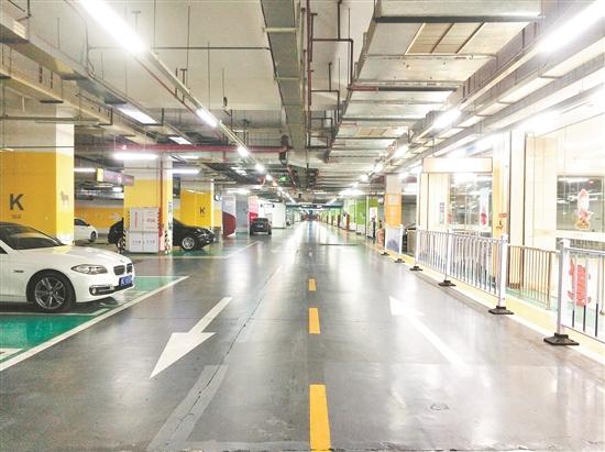 万达广场负二层可供停车上下客