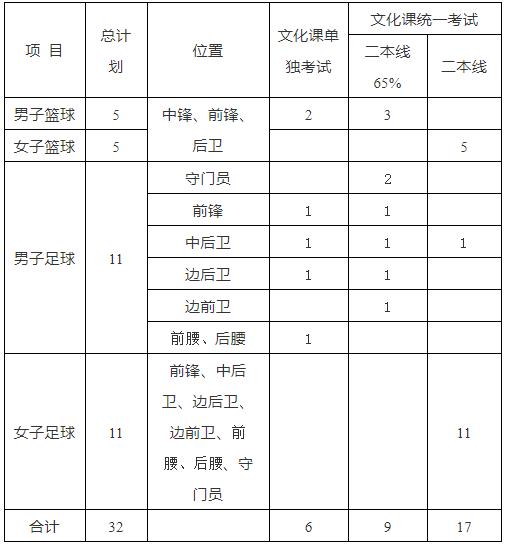 合肥工业大学2021年高水平运动队招生简章