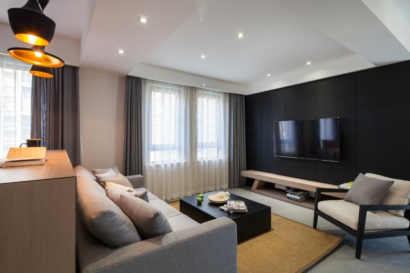 花11万改造112平二居室旧房,现代风格太漂亮,邻居以为走错门了!