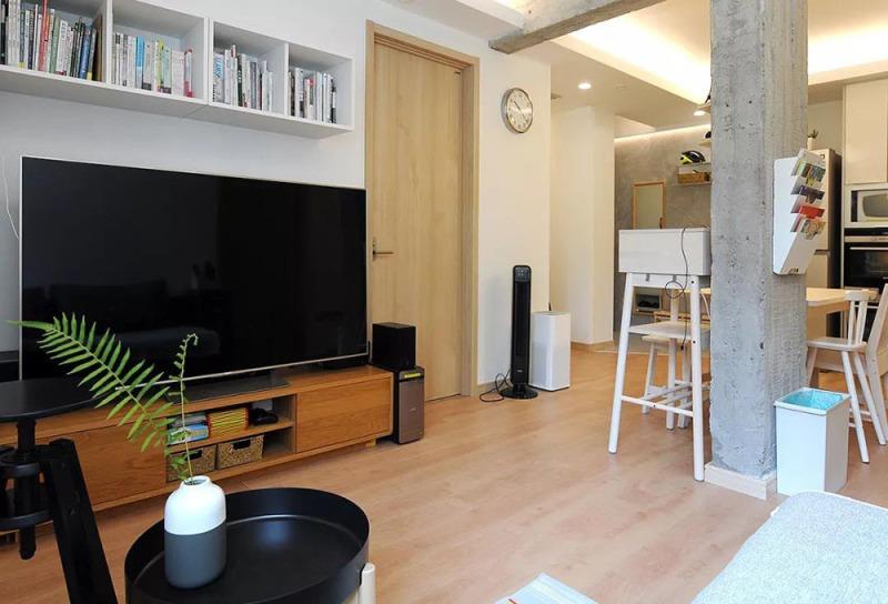 75平米的二居室装修案例欣赏,将日式风融入到现代生活当中。