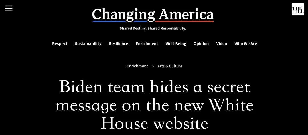 """白宫网站暗藏一个""""秘密""""…"""