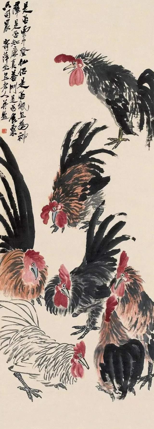 齐白石的这七只鸡,每只500万