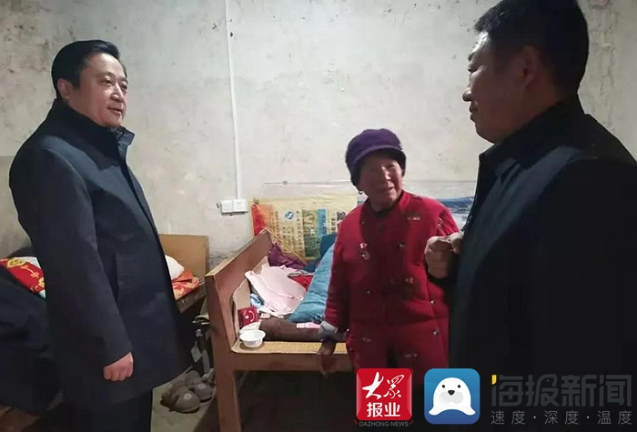 黄福常到党集镇走访慰问老党员及困难群众