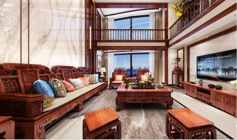 别墅的中式风装修多少钱一平?这套300平米的装修方案亮点满满!