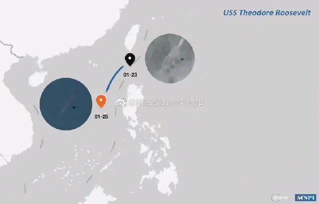美军罗斯福号航母抵达中国南海黄岩岛附近图片