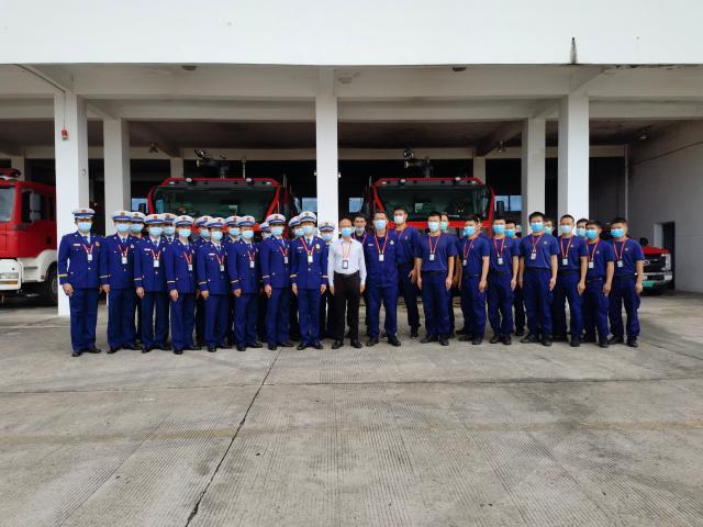 三亚市消防救援支队赴三亚机场开展调研考察