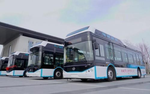 白城15辆氢燃料电池公交车开通啦~!
