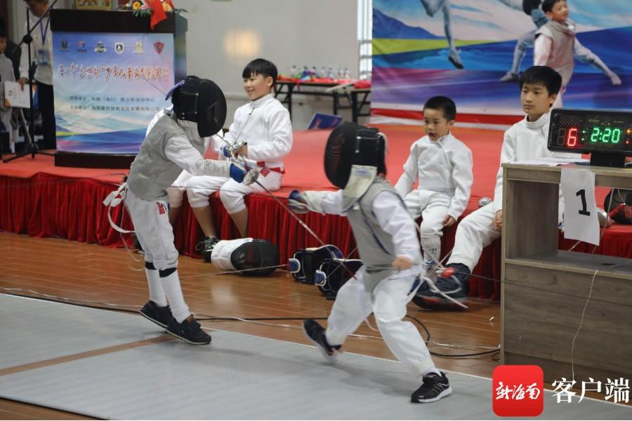 海口第二届少年儿童击剑冠军赛闭幕 决出各个组别冠军