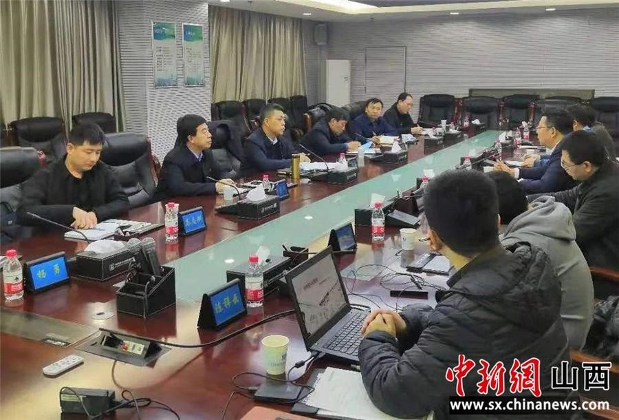 山西柳林县委书记赵建喜与中国建筑西北设计院领导就东山新城控制性详细规划进行了深入沟通交流