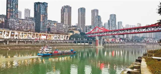 广安港—重庆港集装箱班轮完成首航