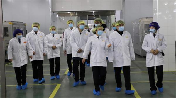 江南大学食品学院领导一行莅临口味王参观交流