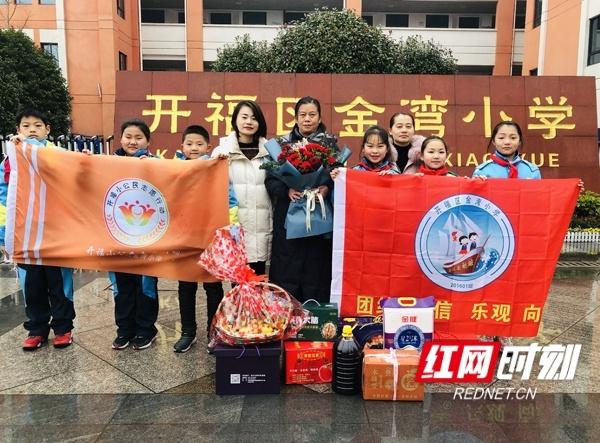 长沙金湾小学:听抗战老英雄讲故事送新春祝福