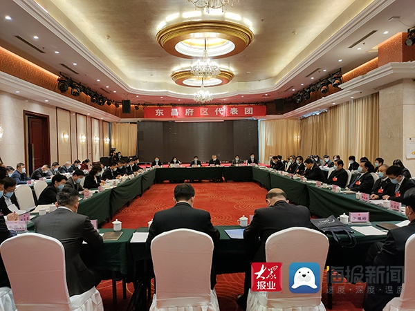 孙爱军参加东昌府区代表团审议时强调 聚焦打造首善之区目标 努力开创经济社会发展新局面