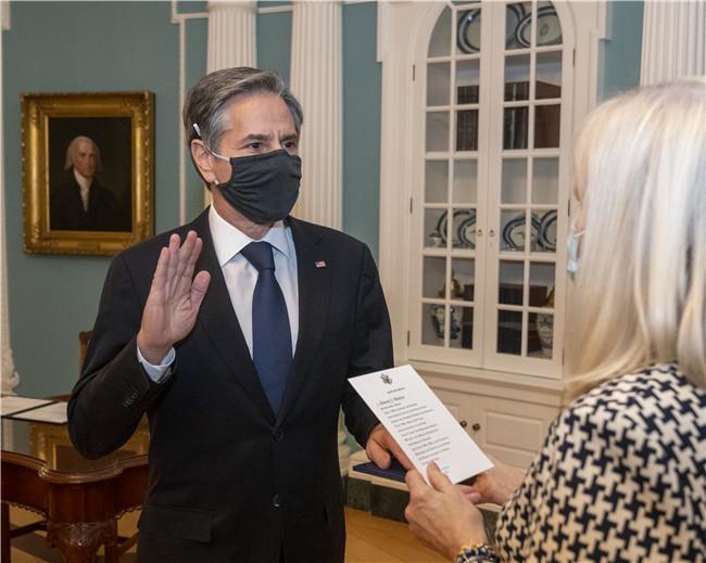 布林肯宣誓就任美国新一任国务卿