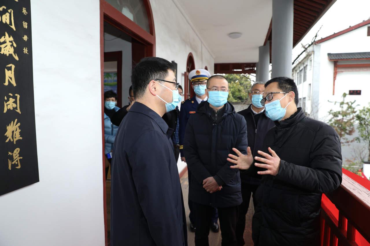袁建督查安全生产和疫情防控工作
