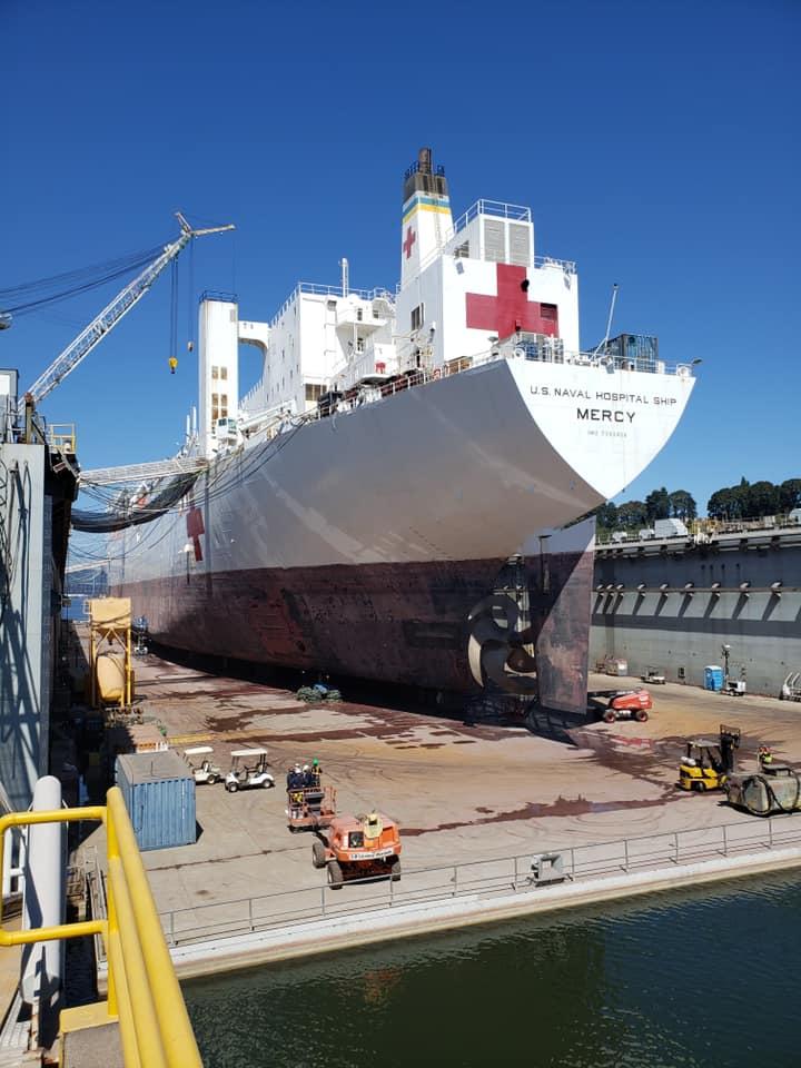美国人又想起医院船 但她维护了
