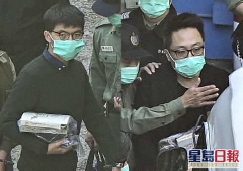 港媒:黄之锋狱中再被捕 涉违香港国安法图片
