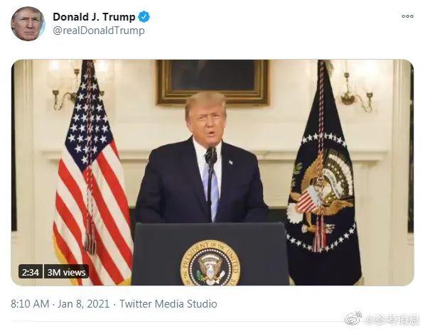 推特刚解禁 特朗普又开始更新了