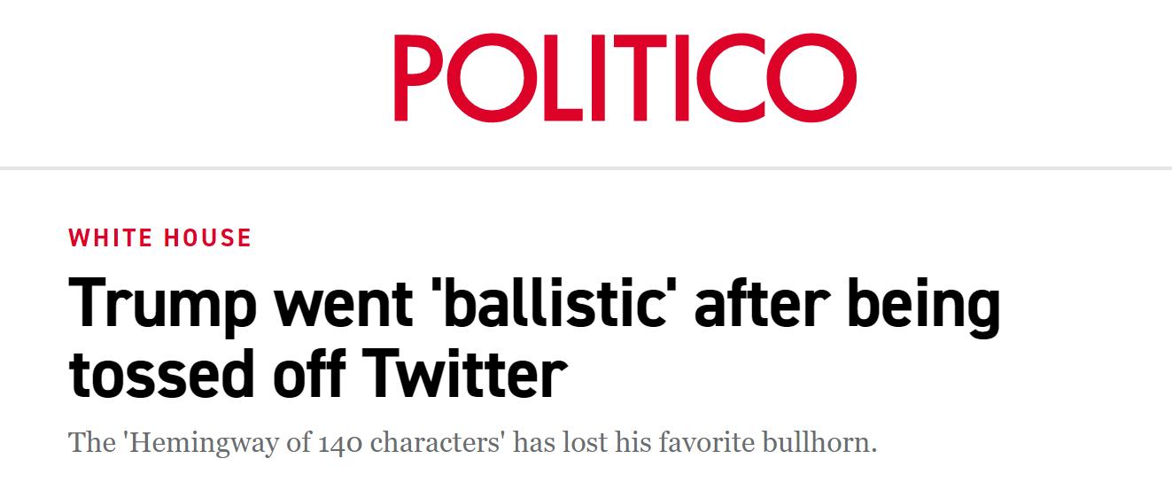 """美媒:被""""赶出""""推特之后 特朗普""""狂怒"""""""
