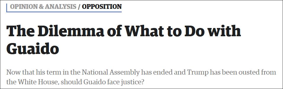 """欧盟不再承认瓜伊多是委内瑞拉""""临时总统"""""""