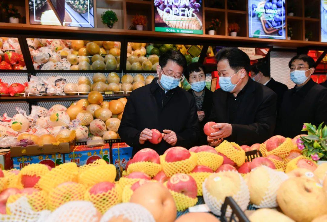 杨光荣调研春节期间重点工作,提出防疫情保供应保安全等要求!