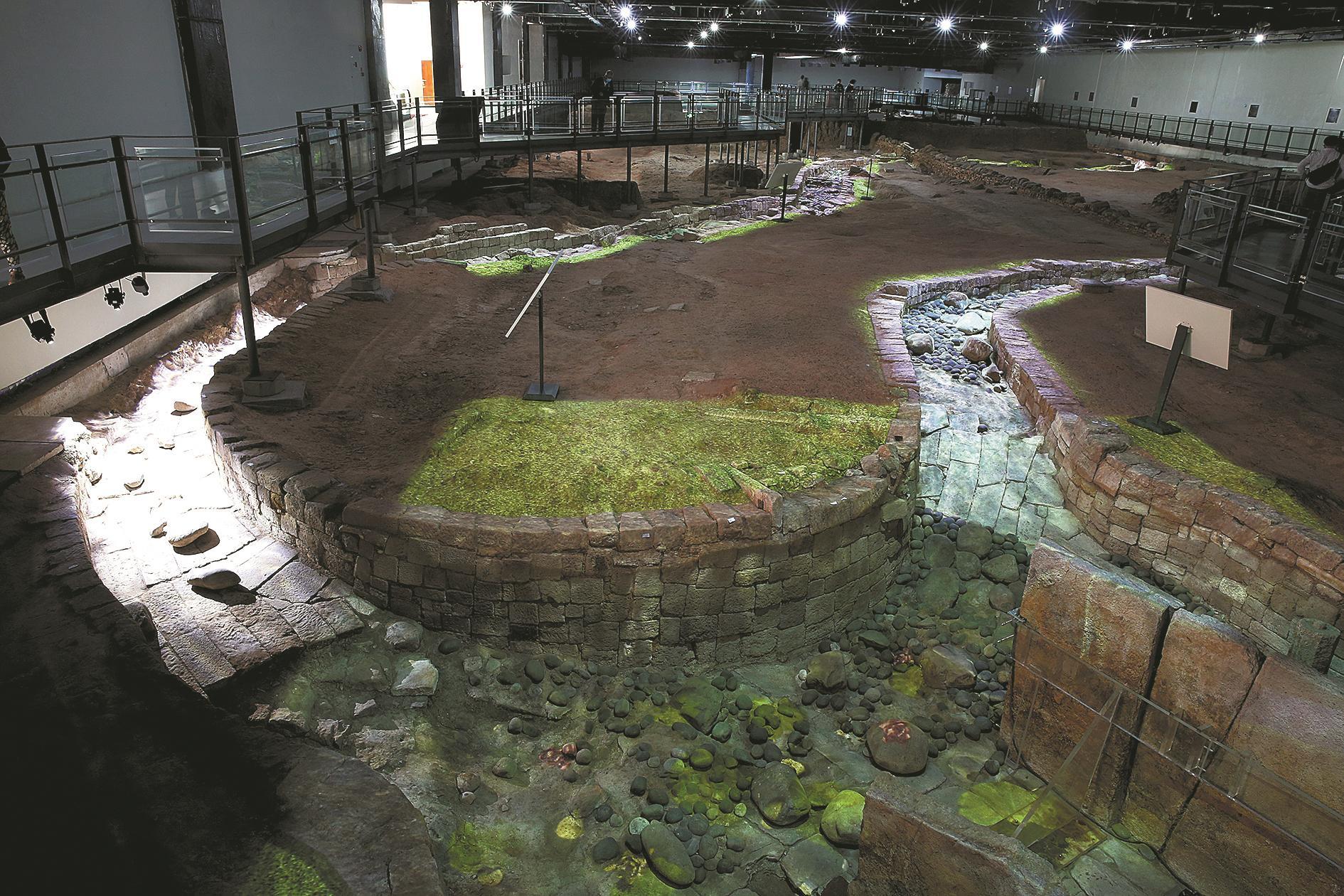 曲流石渠声光电复原展示 南越王宫博物馆供图