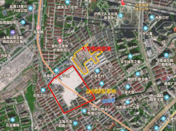 击败保利招商 融创与建发合作64.5亿元竞得上海普陀宅地