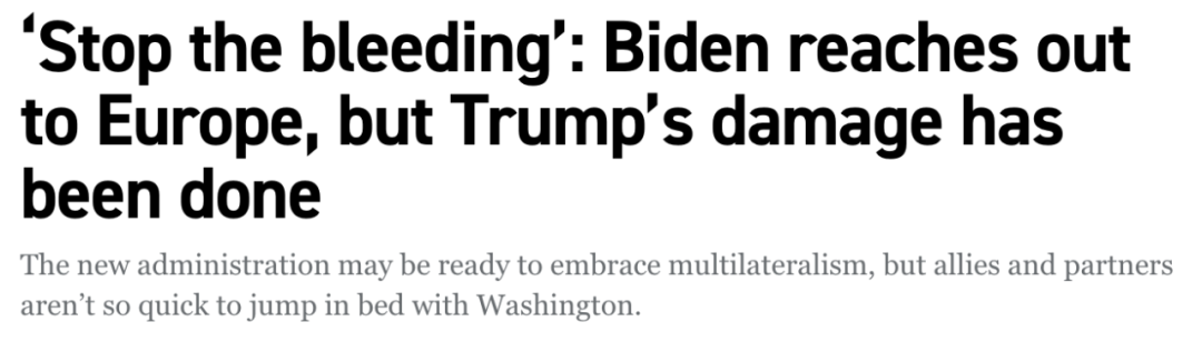 """特朗普式的""""美国优先""""终结了?"""