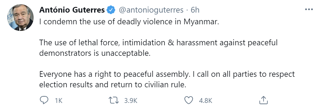 联合国秘书长谴责!图片