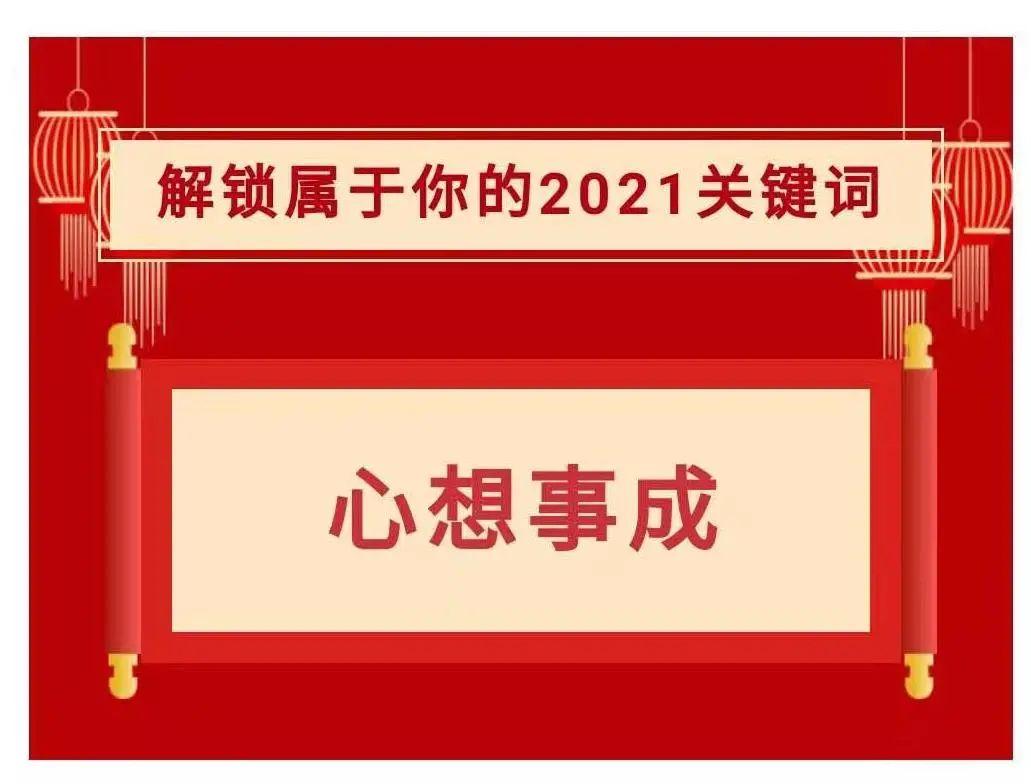 获奖名单 | 解锁属于你的2021关键词~