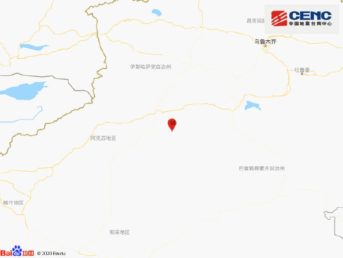 新疆阿克苏地区库车市发生3.6级地震 震源深度10千米图片