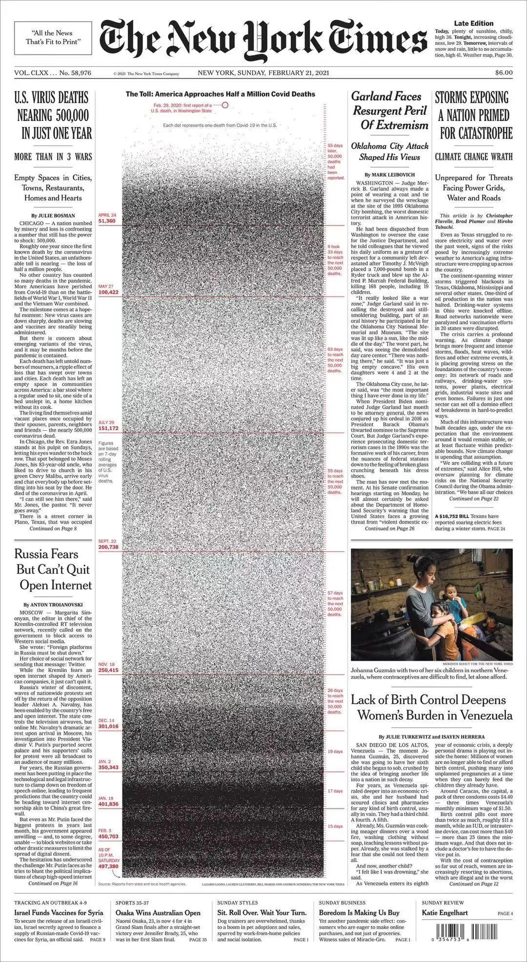 《纽约时报》最新头版,密恐勿入!