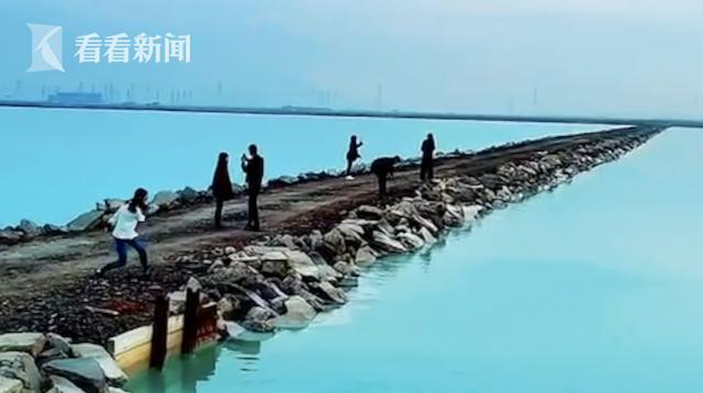 """网红""""茶卡盐湖滨海分湖""""系钙液池"""