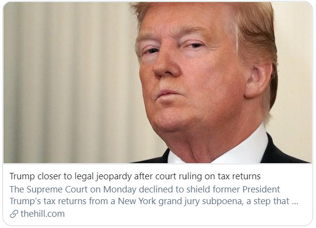 """刚逃过第二次弹劾审判的特朗普 再遭""""重创""""?"""