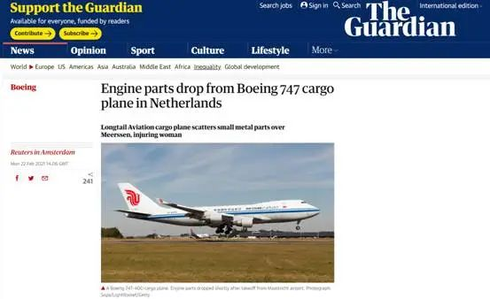 英国《卫报》黑中国航司这操作 太BBC!