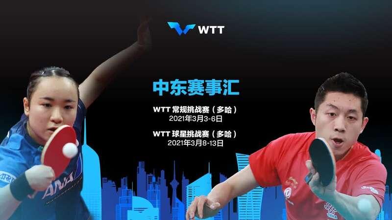 中国乒乓球队取消赴卡塔尔参加WTT中东赛事汇计划
