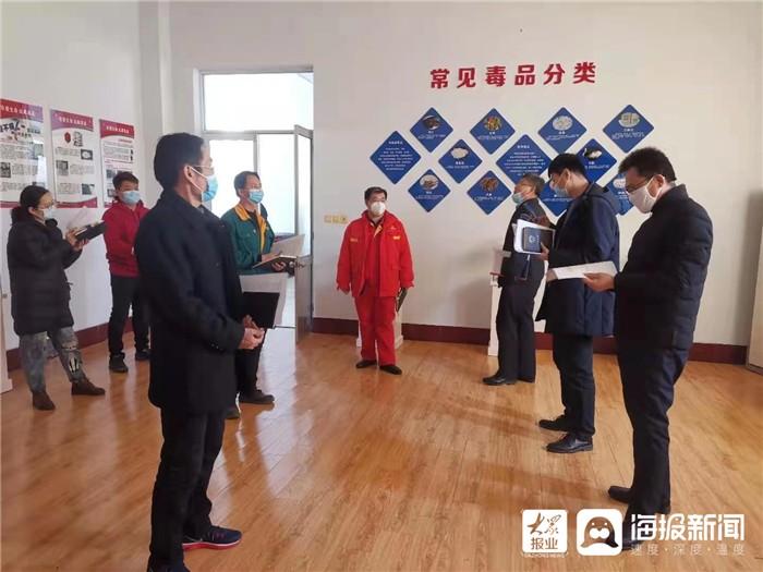 广饶县应急局开展危险化学品、工贸企业安全生产驻点监管工作