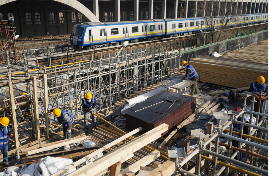北京在建15条地铁线月底全复工 施工者都将接种疫苗图片