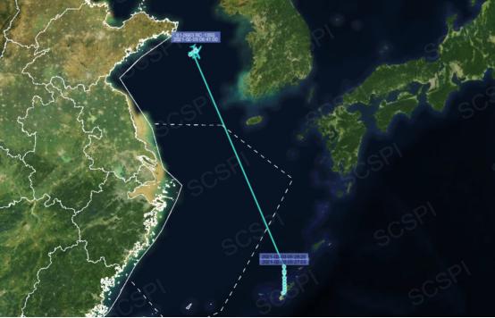 """美军""""导弹监视机""""出现在黄海 位置靠近胶东半岛图片"""