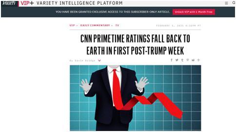 拜登上任首周CNN收视大跌44%,原因与特朗普有关