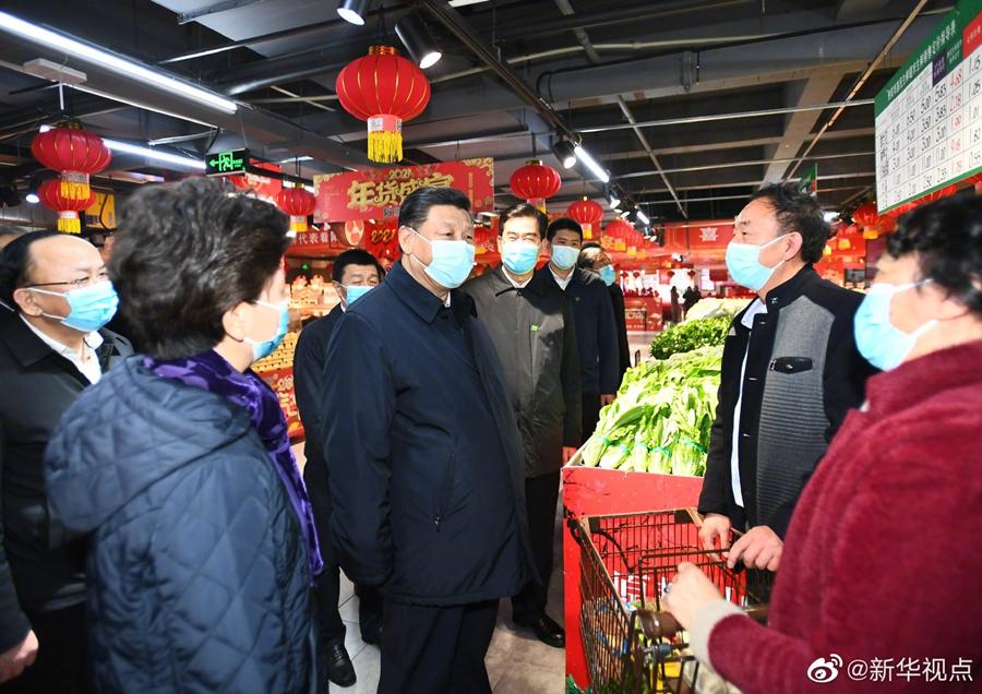 习近平在贵阳考察超市和社区图片