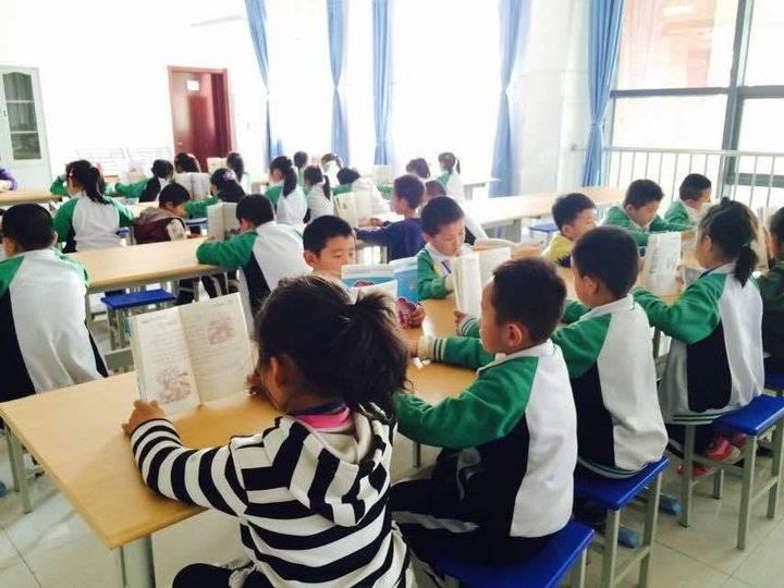 岱岳区卧虎山小学:推进校园文化建设 打造美丽书香校园