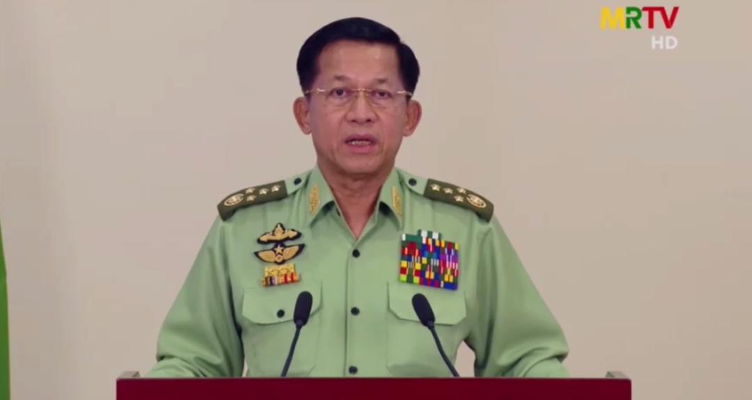 扣押昂山素季后,缅军总司令首次发声图片