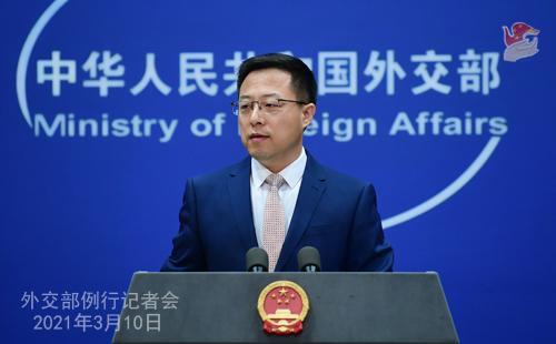 """美海军上将称大陆可能在未来6年内""""入侵""""台湾 赵立坚回应图片"""