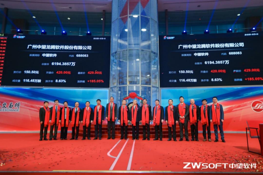 中望软件上市首日股价飙升171%,造就了中国最新科技亿万富翁