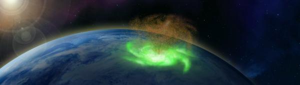 """北极上空发现""""太空台风"""",南极部署的这部中国雷达立功图片"""