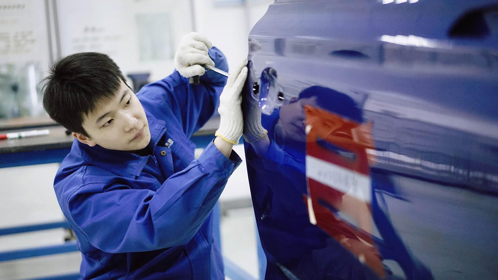 绝活丨世界技能大赛冠军、上汽集团乘用车公司杨山巍:2分钟让车身凹陷去无踪