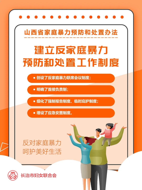 海报 |《山西省家庭暴力预防和处置办法》3月1日正式实施