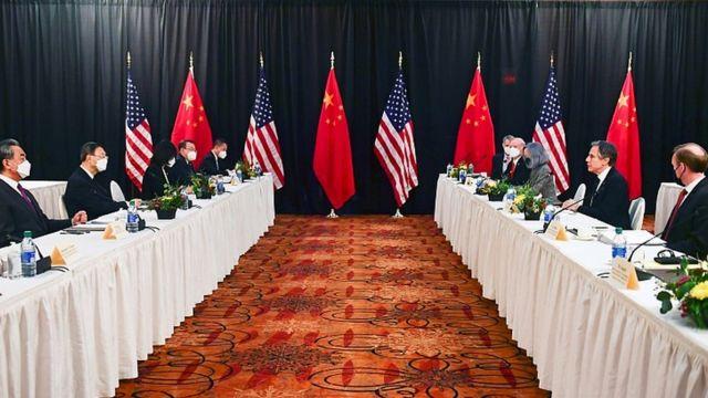 3月18日至19日,中美高层计谋对话在安克雷奇举办。