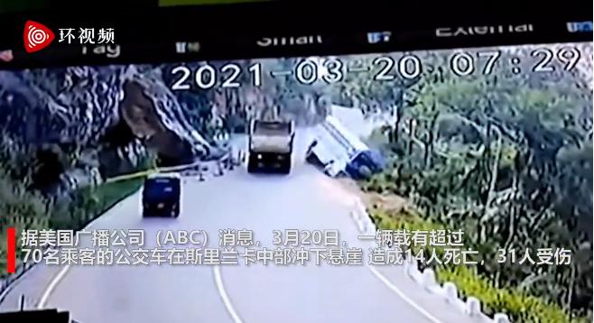 突发!载70多人公交车冲下悬崖图片